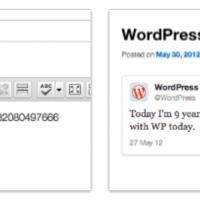 Twitter Integration in WordPress 3.4
