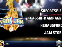 NBA JAM Menü