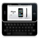 iPhone 4G mit Tastatur (Fotomontage)