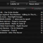 Liste der Aufgenommenen Lieder