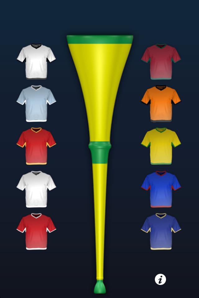Kostenlose Vuvuzela App iPhone Brasilien