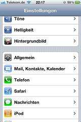 Daten-Roaming beim iPhone ausschalten Schritt 1