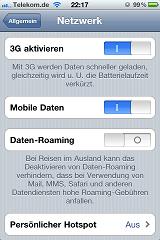 Daten-Roaming beim iPhone ausschalten Schritt 3